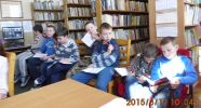 Lekcja biblioteczna w Kurozwękach - Maria Skłodowska - Curie