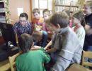 Lekcja biblioteczna w Filii w Kurozwękach