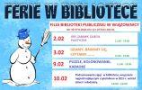 Ferie zimowe w Filiach Biblioteki (2017)
